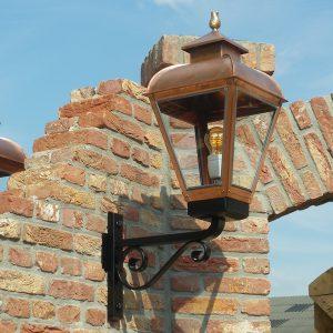 Klassiek authentieke buitenlamp koper