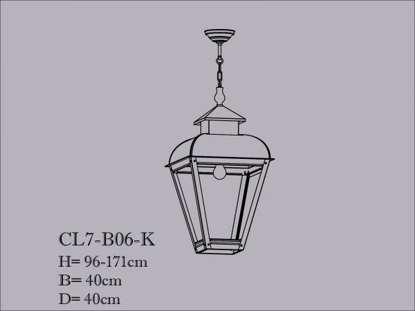 Hanglamp koper aan ketting