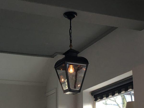 Hanglamp klassiek van zwart RVS voor binnen
