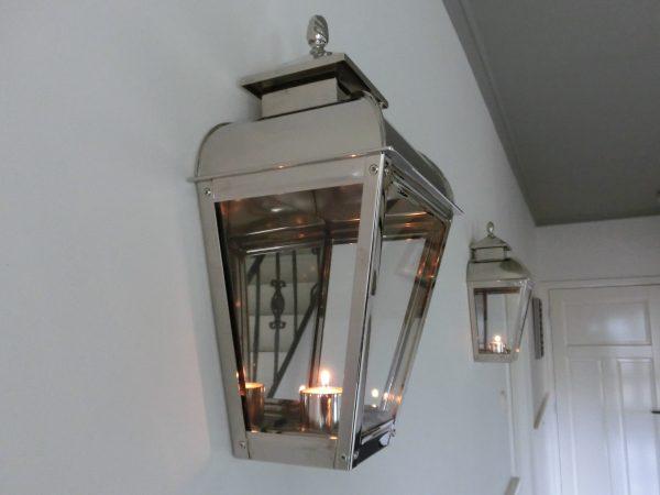 Lamp voor in de gang exclusief van chroom